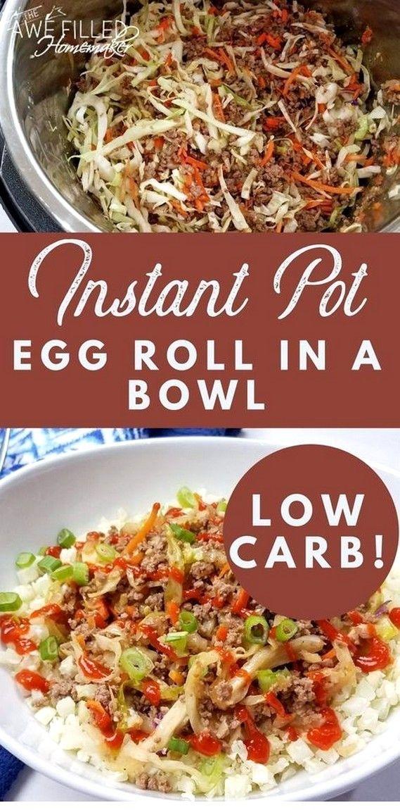 Instant Pot Egg Roll In A Bowl {Low Carb!} | Instant Pot Recipes #instantpotrecipesforbeginners