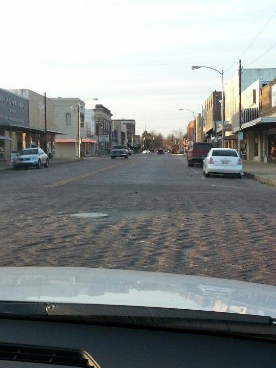 Pauls Valley Ok Love Those Bumpy Brick Streets Pauls Valley
