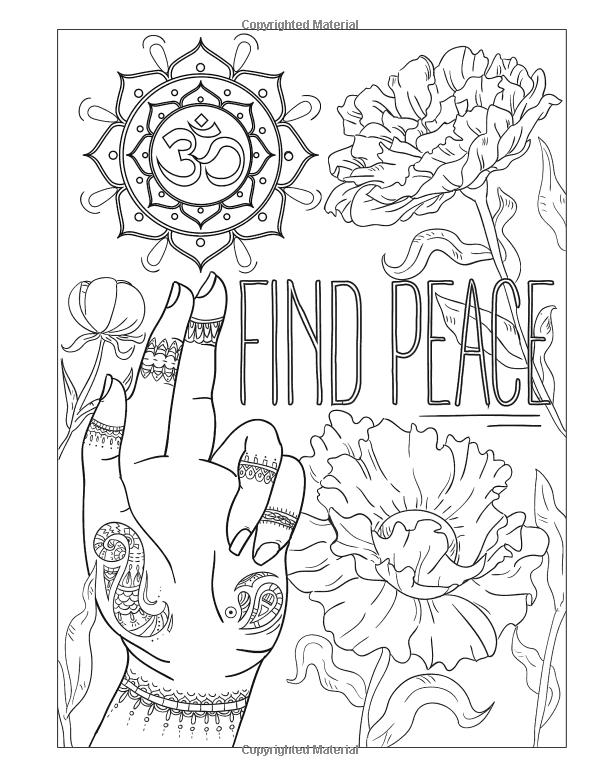 Printable Beautiful Mandala By Lesya Karakotsya Coloring Page | Amazon Com Adult Coloring Book 30 Inspirational Coloring Pages