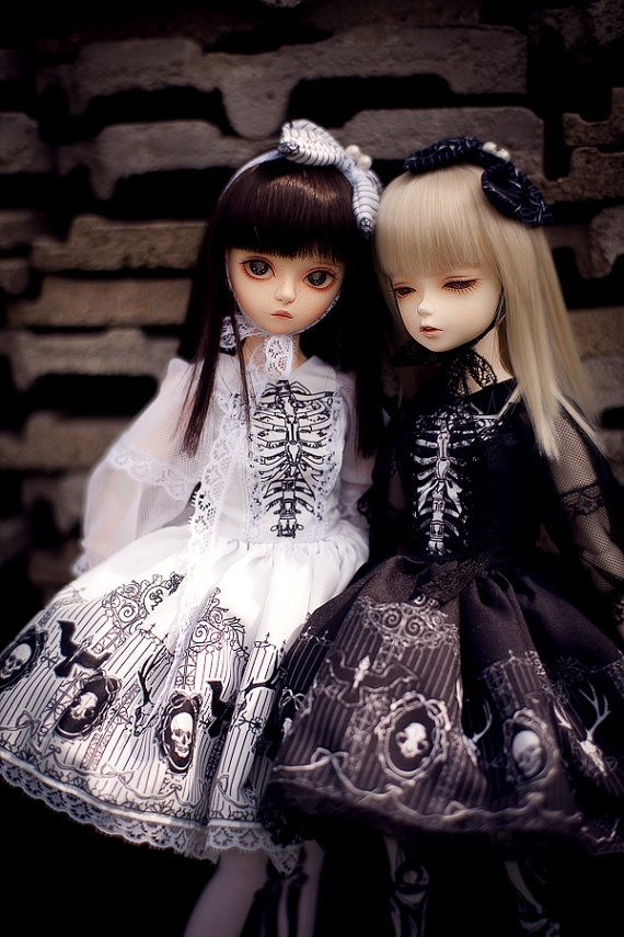 bones lolita MSD / slim MSD set by FeerieDollAtelier on Etsy