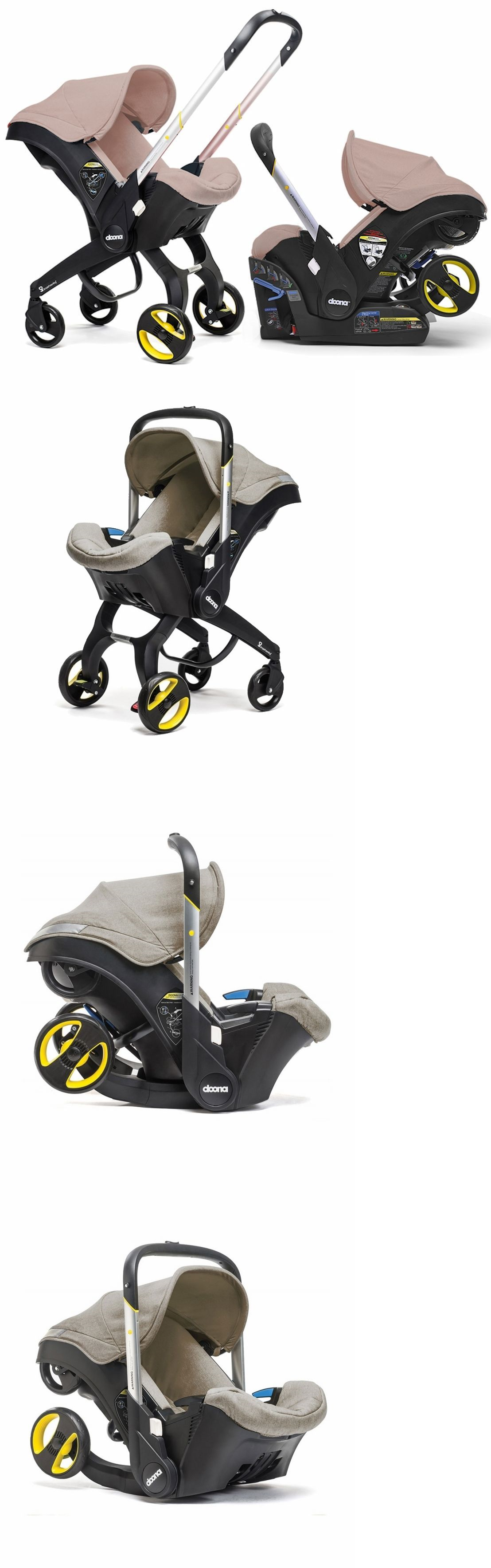baby and kid stuff Doona Infant Baby Car Seat Travel Stroller With Latch Base Beige