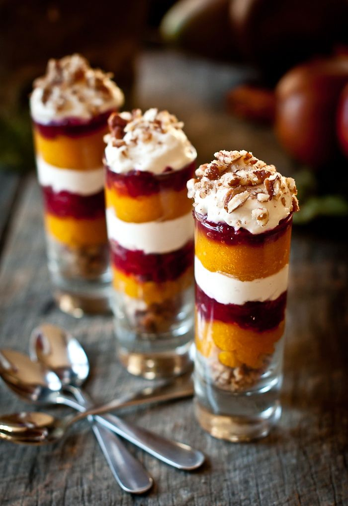 Attractive Christmas Dessert Party Ideas Part - 13: Ginger Pumpkin Cranberry Parfait Shot U2013 Healthy Christmas Party Dessert  Recipe On Yummly.
