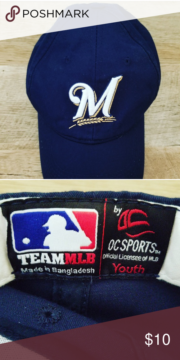 78052320f2b Milwaukee Brewers Youth Baseball Hat MLB Excellent condition Milwaukee  Brewers hat! Team Apparel Accessories Hats
