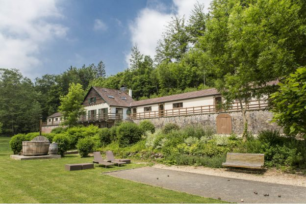 Zwembad Moers Chalet Ardennen 33 Pers. Stoumont Wellness - 105346-01