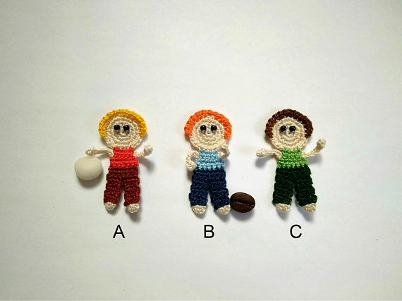 Crochet boy applique design 1pcs childrens appliques baby boy