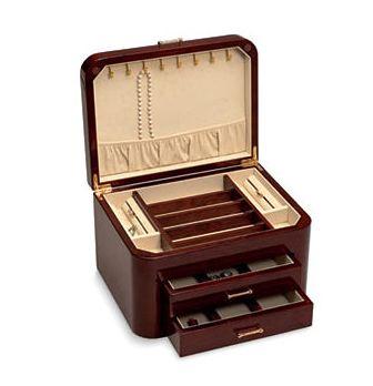 mirror,Mid century jewelry box,Travelling jewelry storage Trinket box+gift vintage jewelry Large Vintage beige faux leather jewelry box w