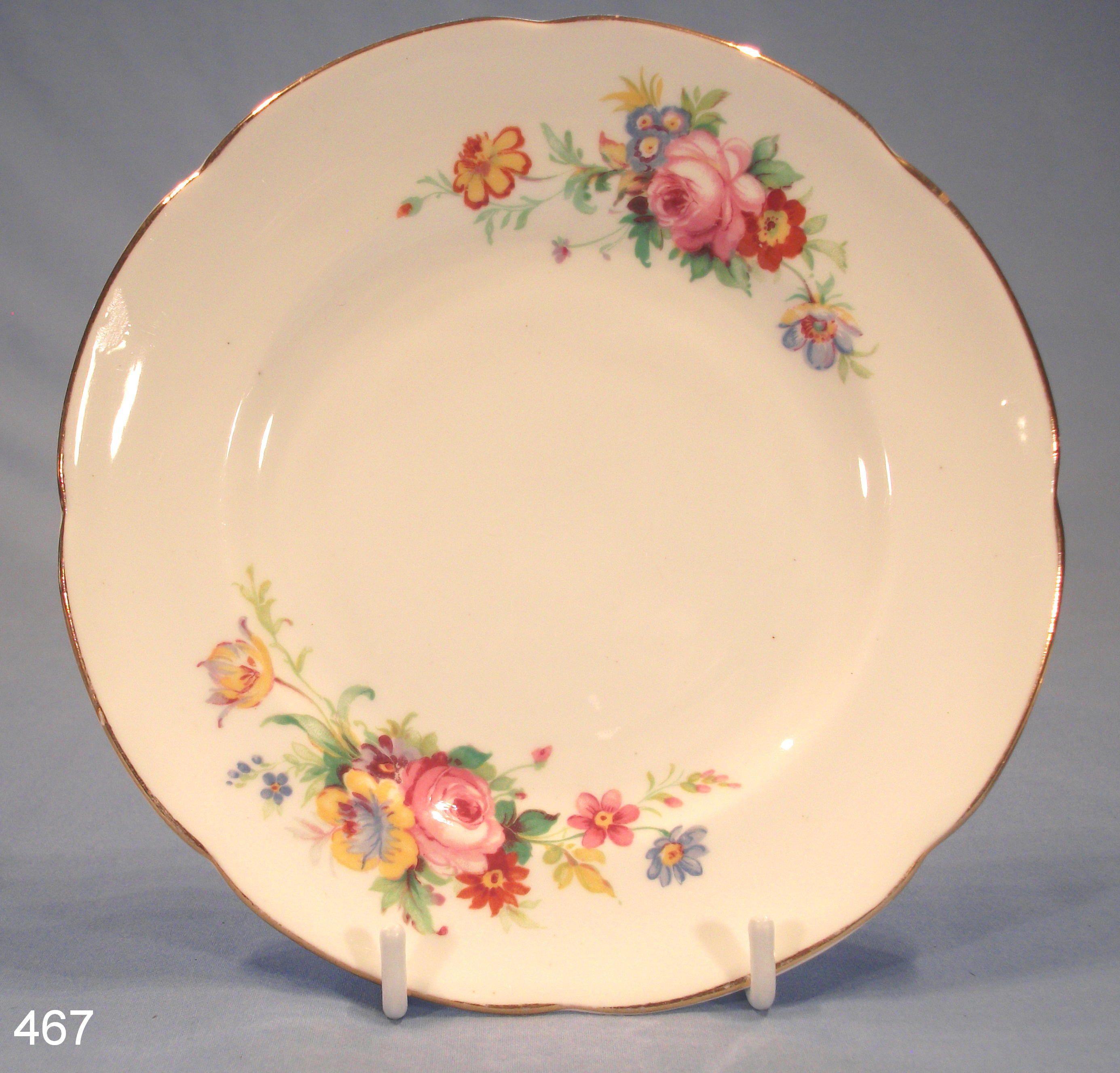 antique dishes | royal stuart floral vintage bone china tea plate very pretty vintage . & antique dishes | royal stuart floral vintage bone china tea plate ...