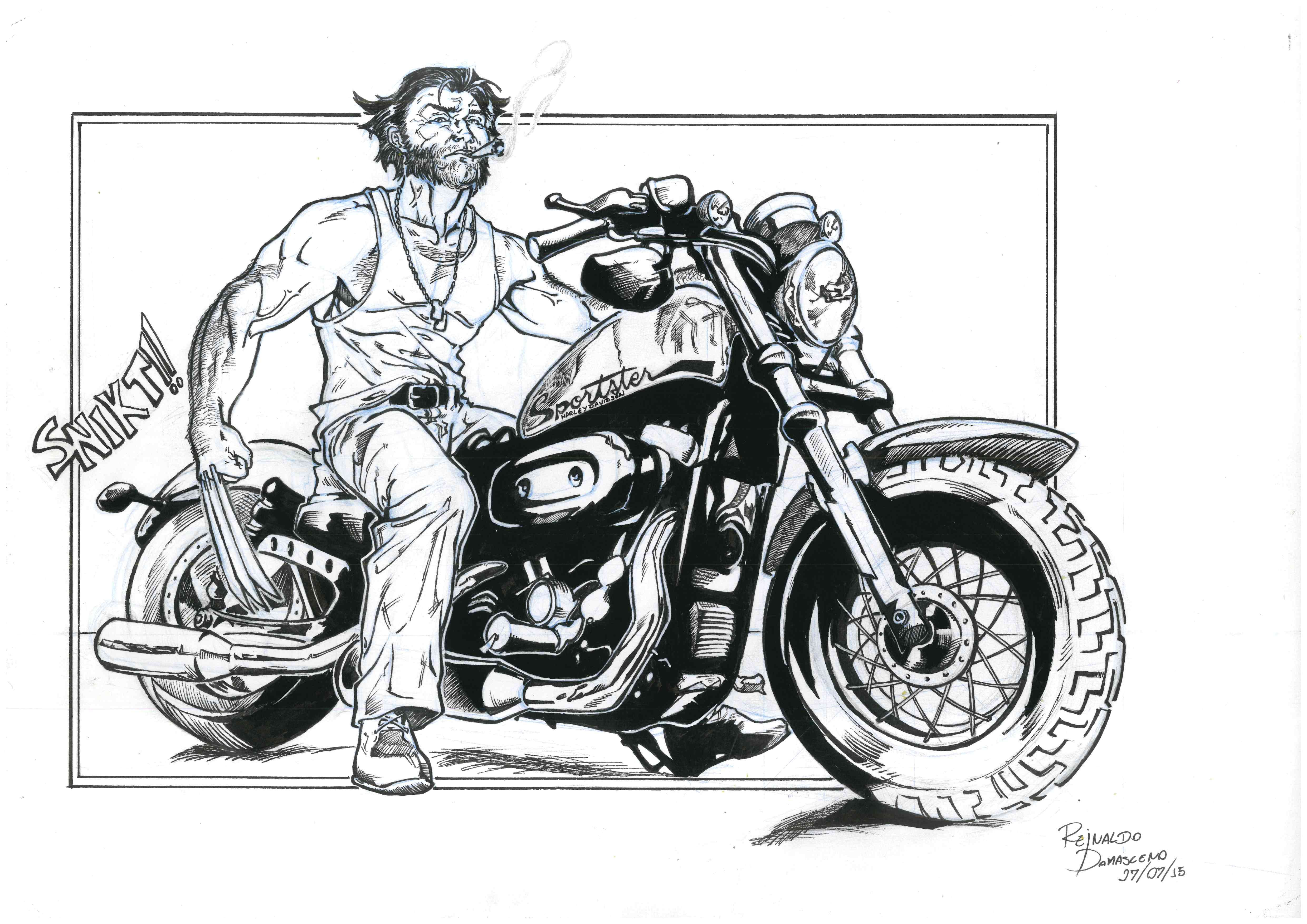 Harley Davidson Dyna illustration by Adi Gilbert t