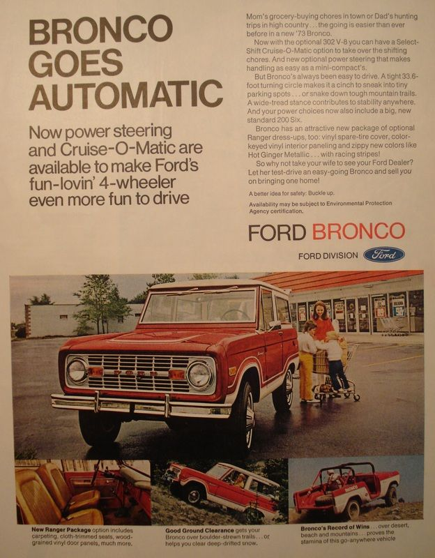 Ford Bronco Ad Ford Bronco Classic Bronco Old Ford Trucks