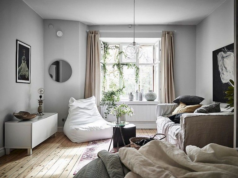 55+ Awesome Studio Apartment With Scandinavian Style Ideas On A Budget images