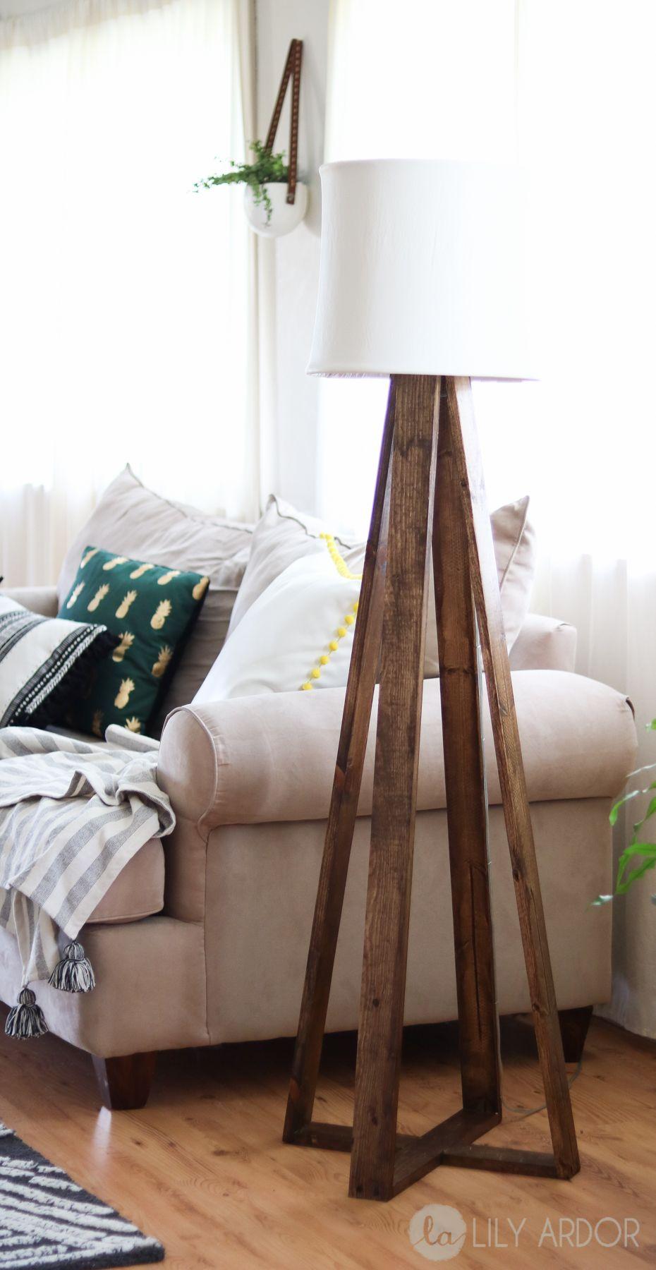 DIY Floor Lamp (WITH VIDEO)  Diy floor lamp, Floor lamps living
