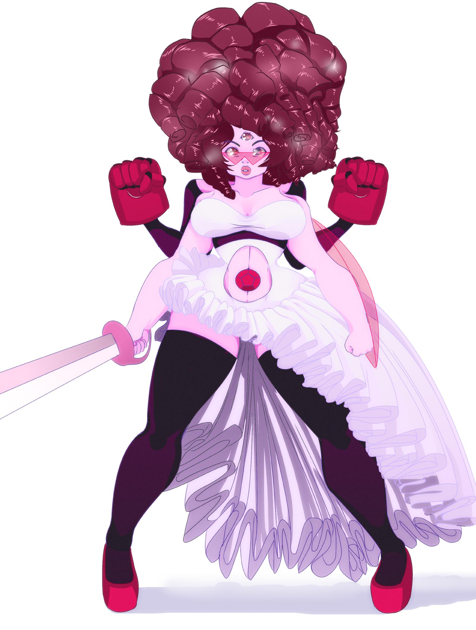 Garnet And Rose Quartz Fusion Steven Universe By Waiitako Steven