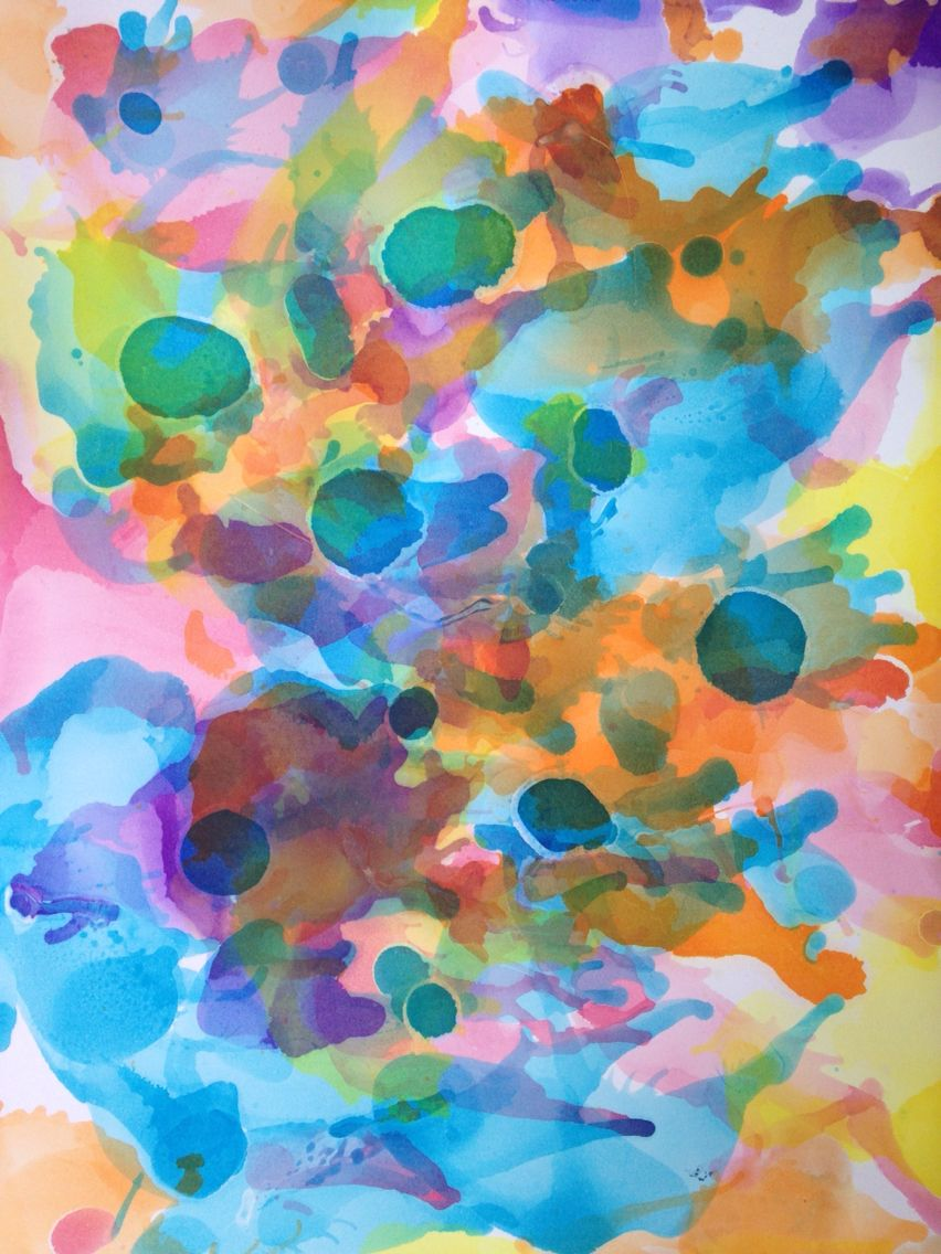 Having Fun with my Kids and Alcohol inks created by us. ALC022015 4/10 by CiM.