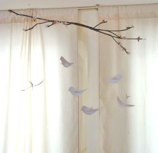 MaryJanes and Galoshes: Sweet Bird and Branch Mobile ❥•.¸¸ツ
