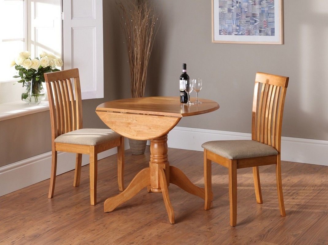 kitchen table with fold down sides