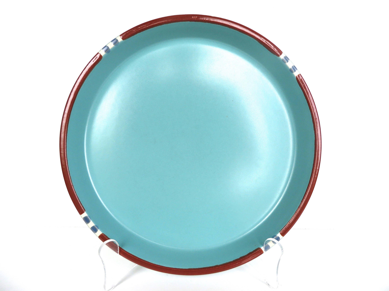 Set Of 2 Dansk Mesa Turquoise Dinner Plates Modern Southwestern Stoneware 10 1/2  Plates Large White Dinner Plates  sc 1 st  Pinterest & Set Of 2 Dansk Mesa Turquoise Dinner Plates Modern Southwestern ...