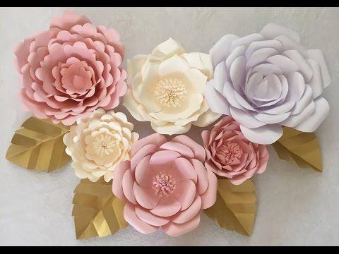 Como hacer flores de papel Crepe o China manualidades con papel