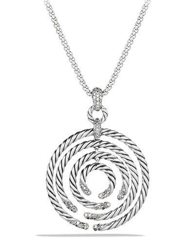 Willow Medium Pendant with Diamonds on Chain