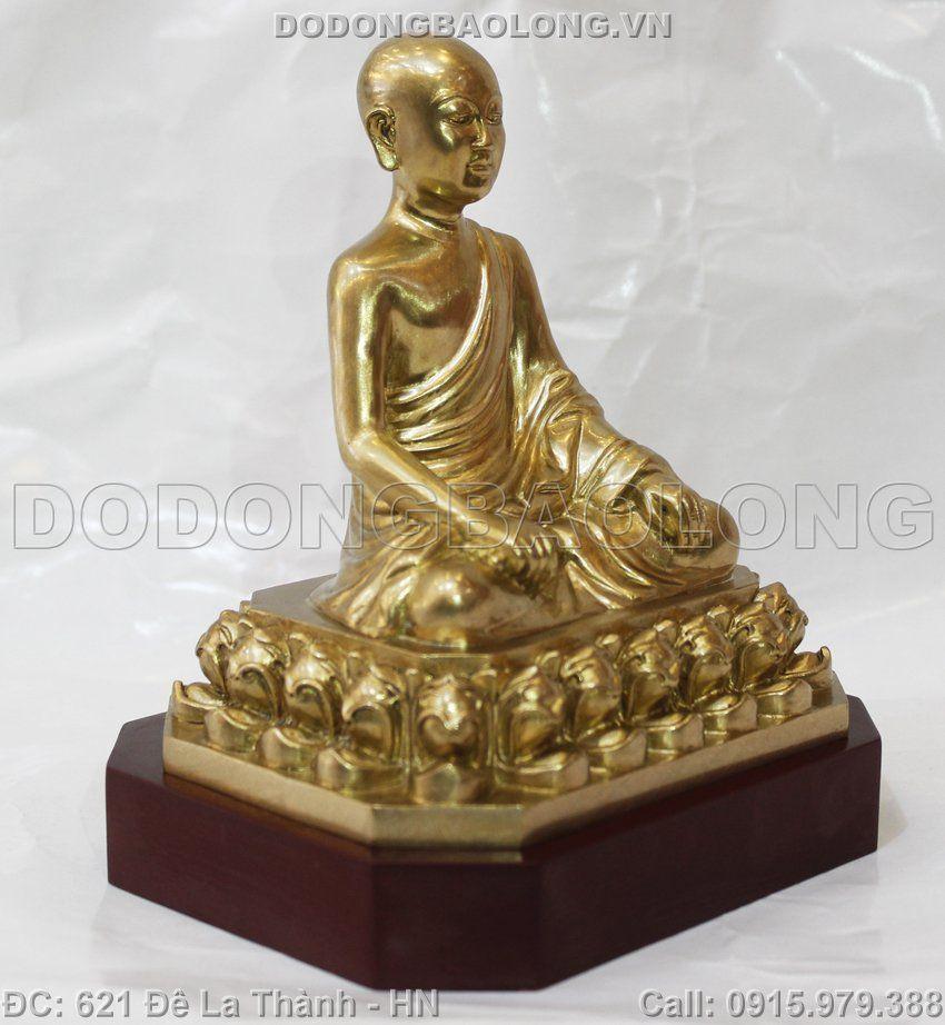 tượng đồng phật hoàng trần nhân tông, tượng đồng trần nhân tông, tượng phật hoàng trần nhân tông bằng đồng