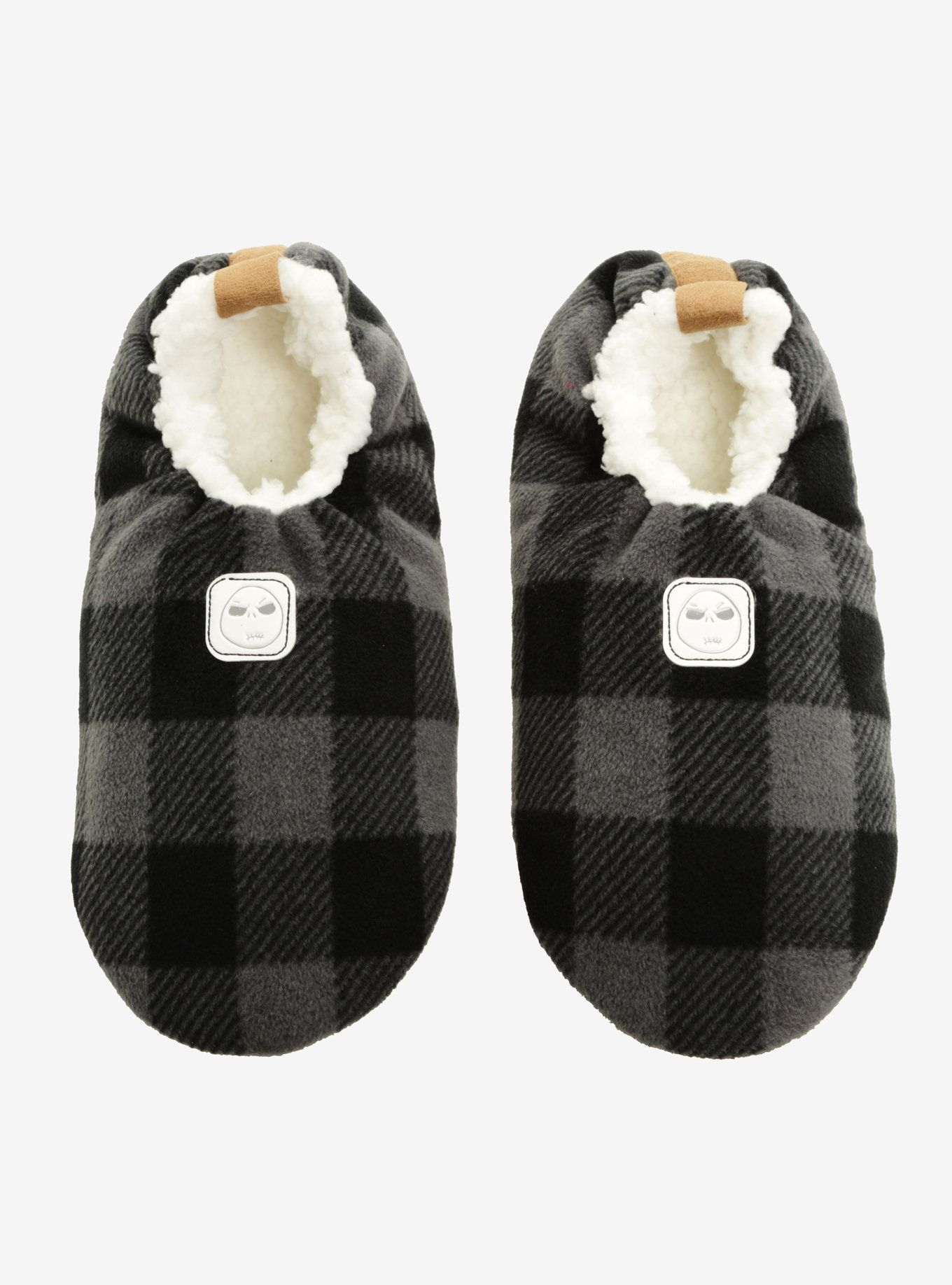 The Nightmare Before Christmas Plaid Jack Slippers