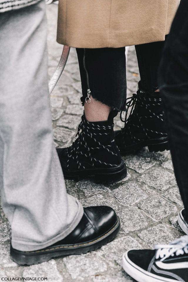 STREET STYLE PARIS COUTURE IV   Collage Vintage   Bloglovin' LOVE the boots and frayed pants!
