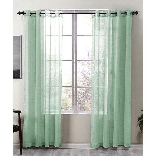 S.L. Home Fashions Sea Foam Kendall Curtain Panel ($12) ❤ Liked On Polyvore  Featuring