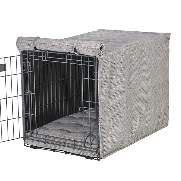 Silver Treats Dog Crate Cover   Hunde