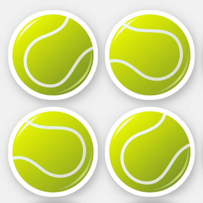 Tennis Ball Stickers Zazzle Com In 2020 Tennis Ball Tennis Balls Stickers