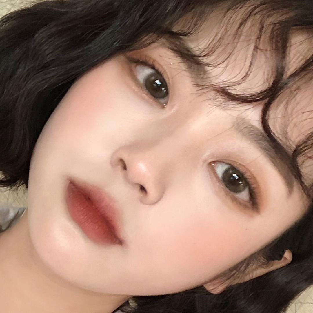 Korean Makeup Dark Red Lipstick Matt Lipstick Peach Makeup