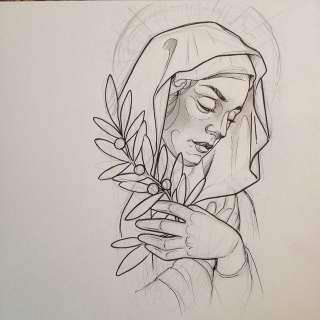 Line Drawing Virgin Mary : Virgin mary for today tattoo sketches and flash