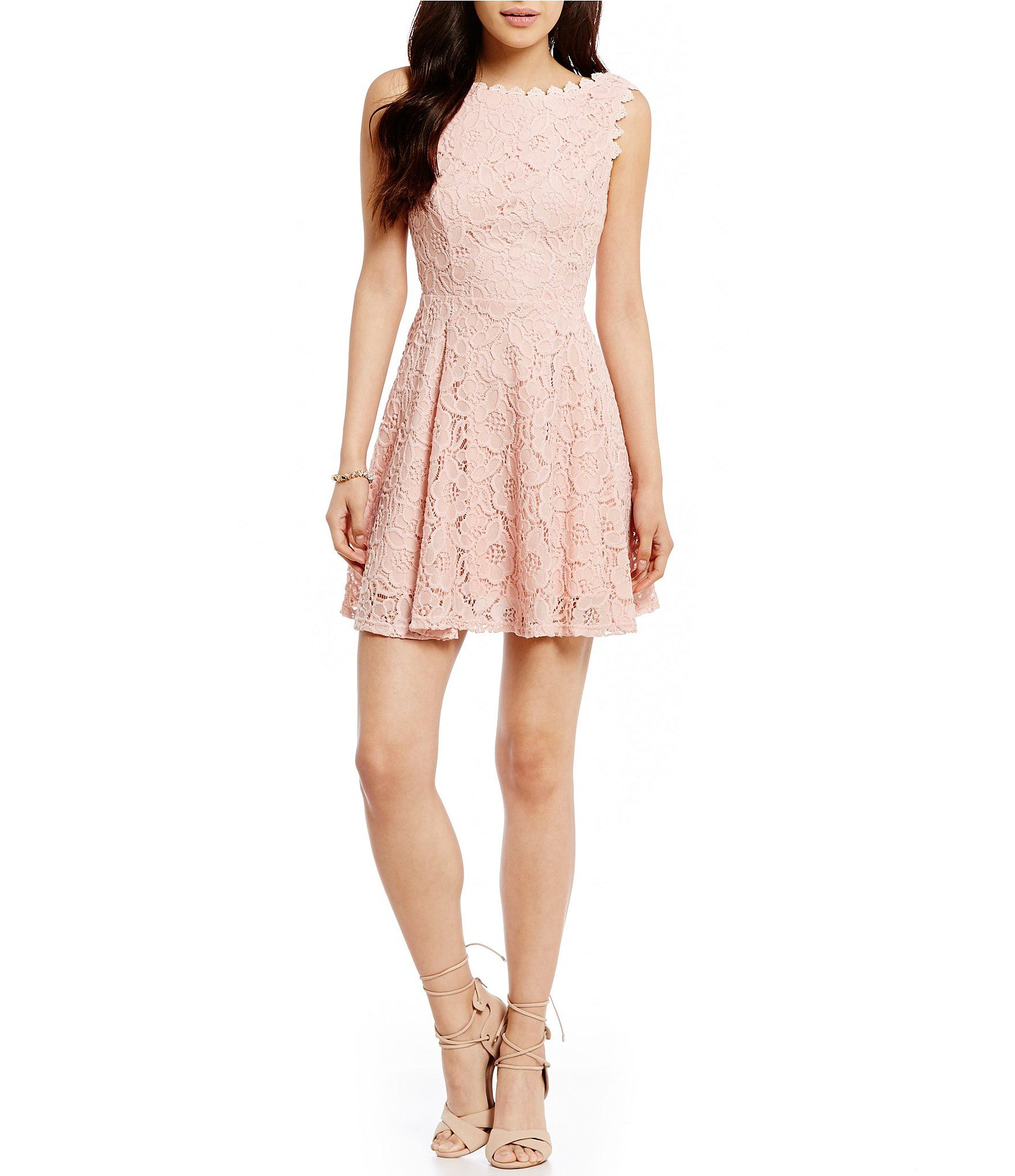 Jodi kristopher twotone lace aline dress dillards college