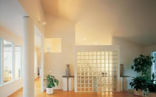 I want to use glass bricks to separate my dinning area and my living ...