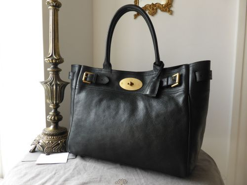 Mulberry Bayswater Tote In Black Natural Leather