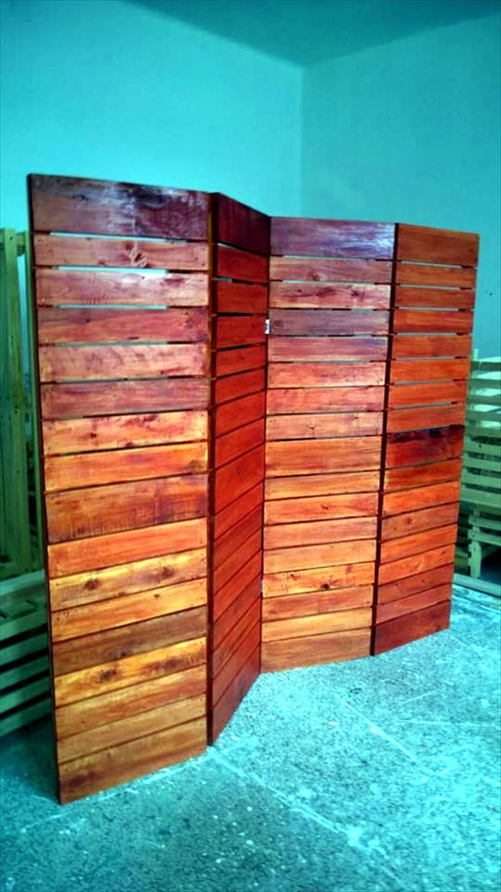 Diy upcycled pallet room divider pallets divider and carpentry