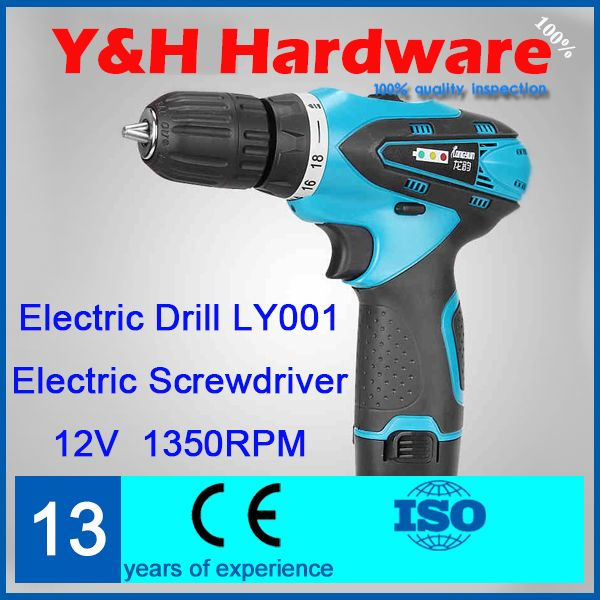 (Buy here: http://appdeal.ru/228j ) 12V waterproof cordless screwdriver rechargeable multi-function double speed electric drill with LED stepless speed switch LY001 for just US $55.08