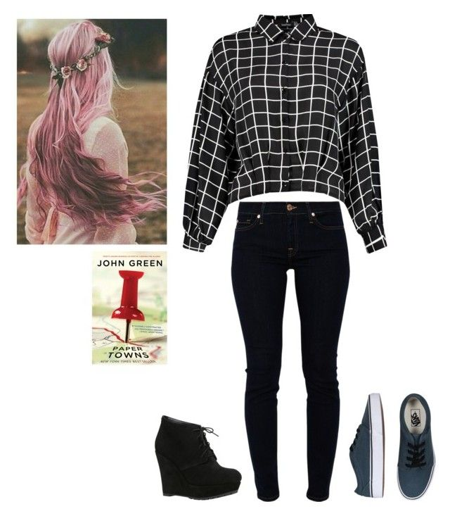 """""""Being a bookworm is great"""" by haileyscomet95 ❤ liked on Polyvore featuring 7 For All Mankind, ALDO and Vans"""