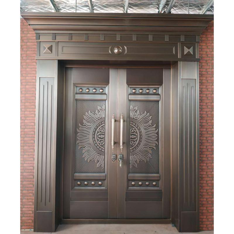 Front Main Security Door Copper Design Door For Villa Entrance View Security Door Juwan Product Security Door Design House Front Door Design Door Design Wood