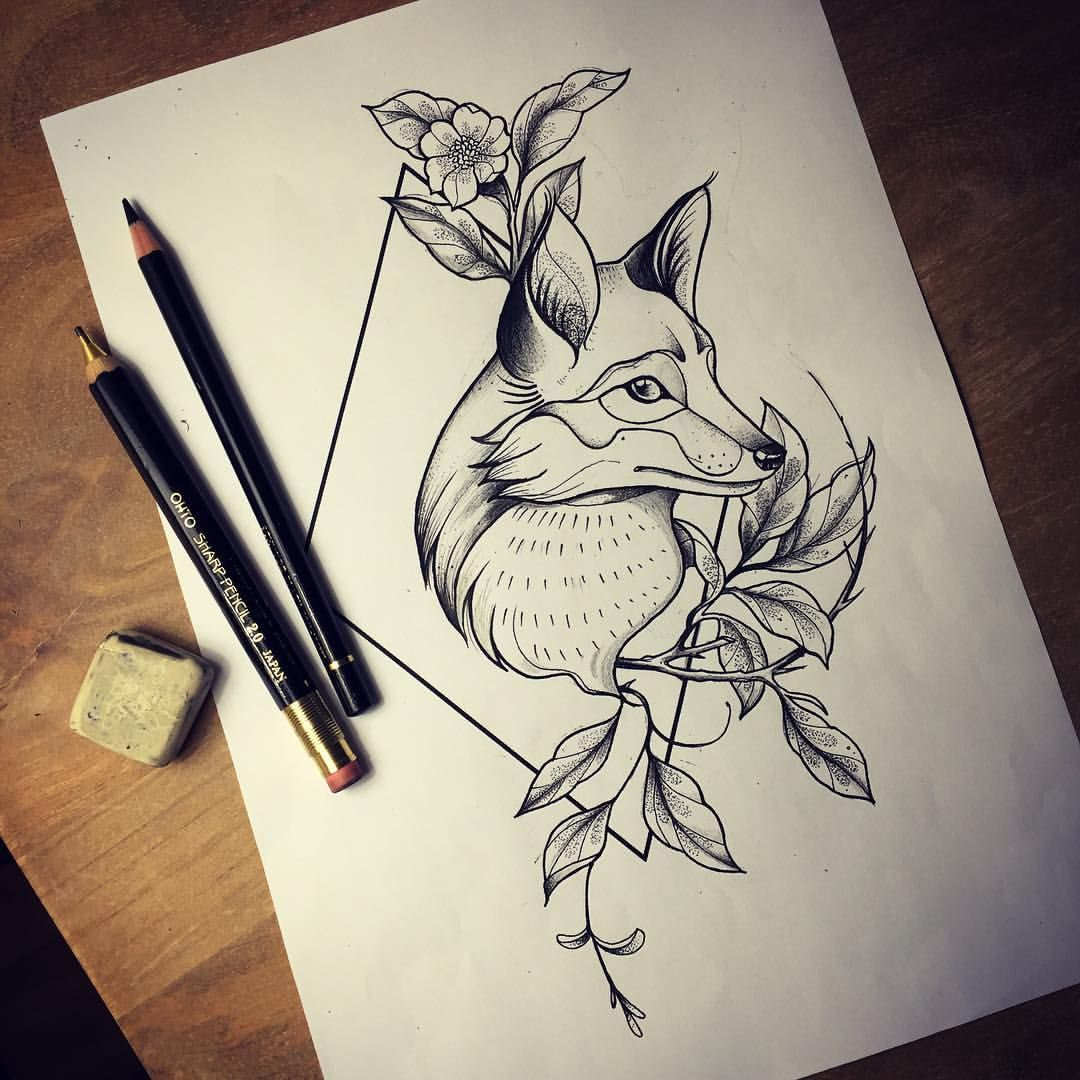 Oneonine Fox Tattoo Fox Tattoo Geometric Fox Tattoo Design