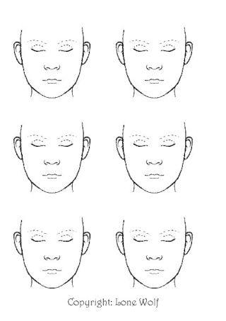 Blank face clip art   Facepainting   Pinterest   Clip art, Face and ...