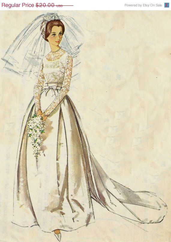 Vintage Wedding Dress Simplicity Pattern 5343 size 14 | Malen und Kunst