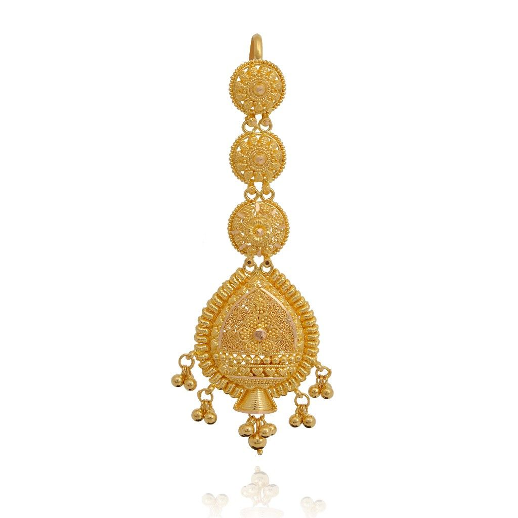 Indian Bridal 22kt Gold Tikka Gold Jewelry Stores Jewelry Online Shopping Dream Jewelry