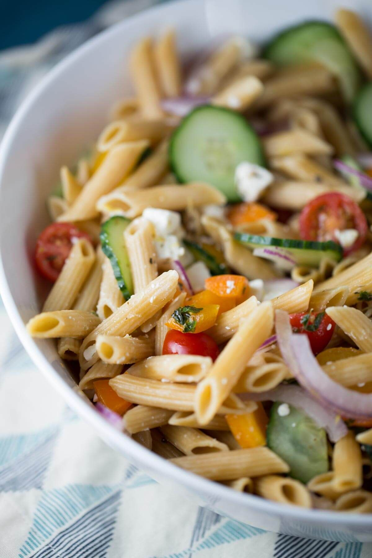 15 Minute Easy Greek Pasta Salad