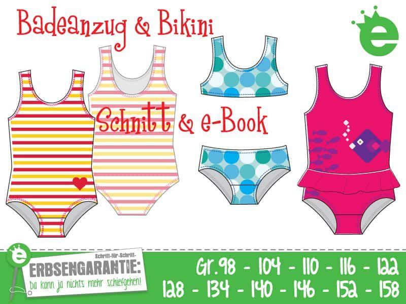Badesachen für alle: Schnittmuster Badeanzug & Bikini | nähen ...