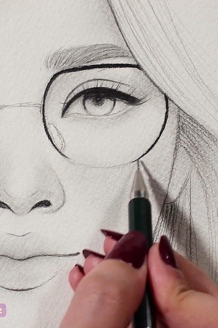 9 Satisfying art videos -   10 hair Art sketch ideas