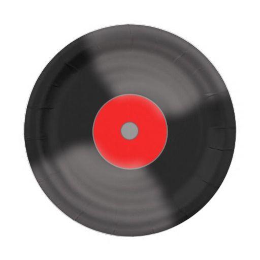 Retro Record Paper Plates 7 Inch Paper Plate  sc 1 st  Pinterest & Retro Vinyl Record Party 1950\u0027s Music Paper Plates