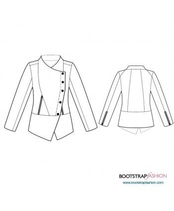 Custom-Fit Sewing Patterns - Jacket With Draping | sewing patterns ...