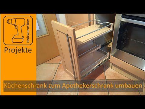 Küchenschrank zum Apothekerschrank umbauen \/ Kitchen Drawer DIY - apothekerschrank für küche