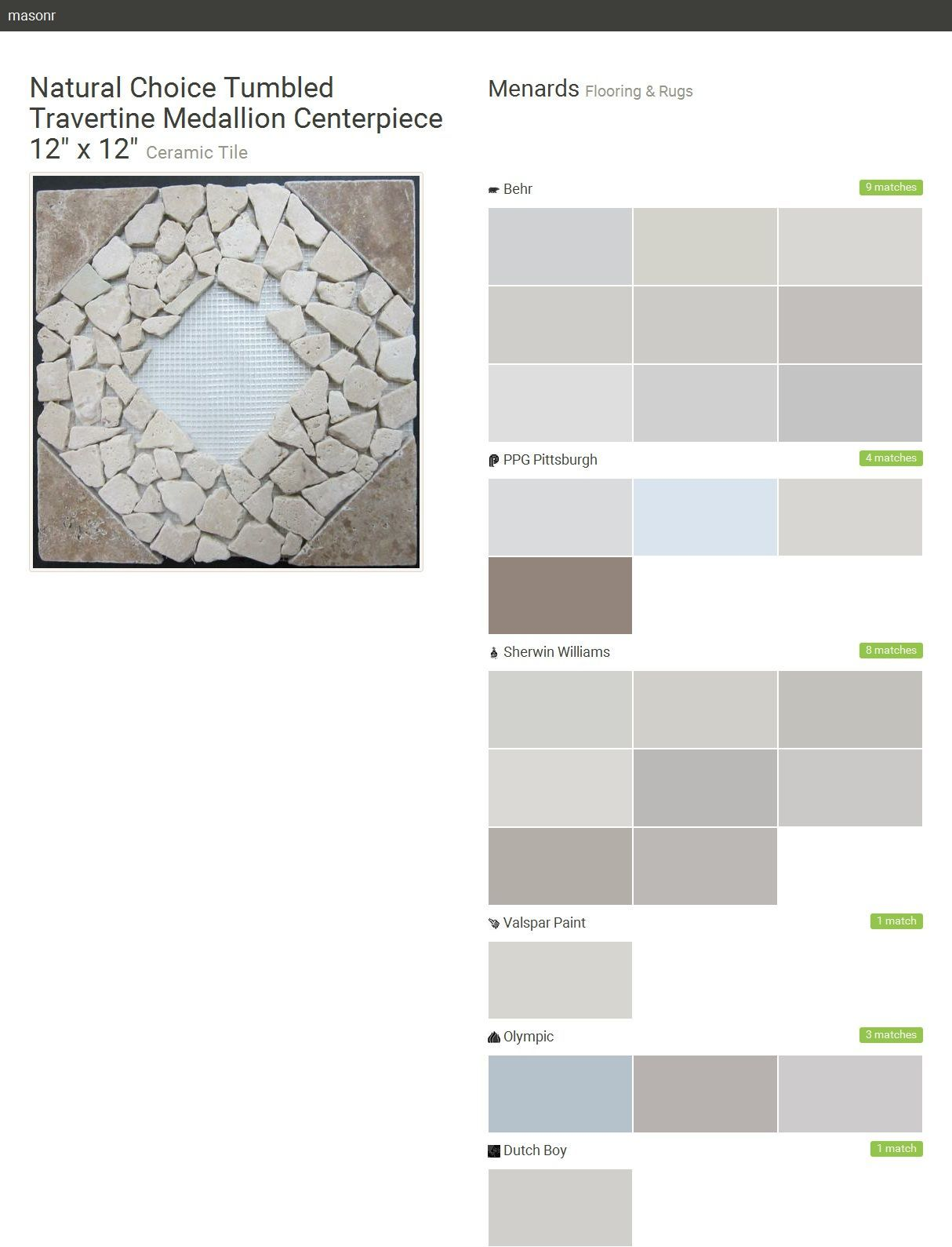 Natural choice tumbled travertine medallion centerpiece 12 x 12 natural choice tumbled travertine medallion centerpiece 12 x 12 ceramic tile flooring dailygadgetfo Image collections