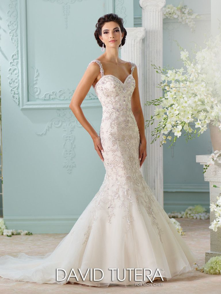 Beaded sweetheart neckline mermaid wedding dress surya