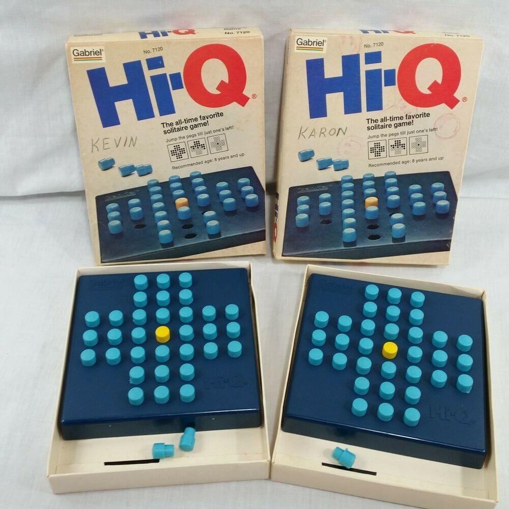 Hi Q Vintage Board Game Set of 2 Complete Gabriel 7120